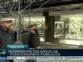 Tras protestas, España anunció su presupuesto 2012