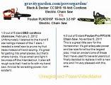 Black & Decker CCS818 18-Volt Cordless Electric Chain Saw vs Poulan PLN3516F 16-Inch 3.5 HP Electric Chain Saw