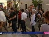 FR3 Languedoc Roussillon du 31/03/2012: RESF 30 Nîmes. Chaine humaine « En finir avec  l'enfermement des enfants étrangers »