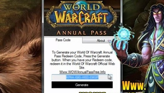 World Of Warcraft Annual Pass Redeem Code Free Download ...