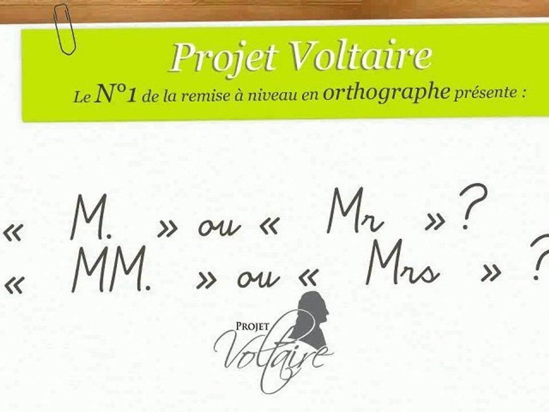« M. » ou « Mr » ? « MM. » ou « Mrs » ?