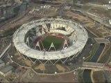 London 2012 Olympics Olympic Stadium Ariel Views