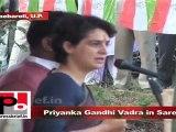 Priyanka Gandhi Vadra in Sareni (Raebareli) explains the wrong policies of BSP govt. in UP