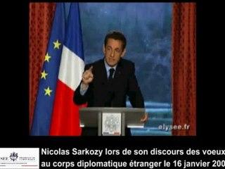Discours de Nicolas Sarkozy sur le Nouvel Ordre Mondial - le 16 janvier 2009