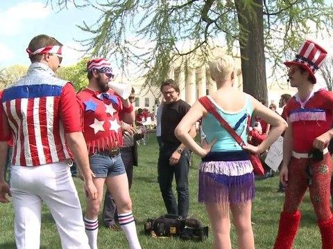 Haarige Demo in Washington