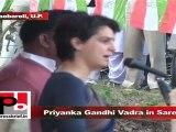 Priyanka Gandhi Vadra in Sareni (Raebareli) Politics should be based on service and development