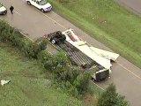 Tornado verwüstet Lkw-Parkplatz in Texas