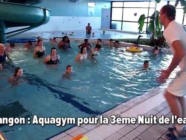 Langon: aquagym pour la Nuit de l'eau