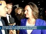 """Ségolène Royal : """"le seul qui peut battre la droite, c'est François Hollande"""""""