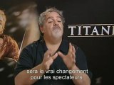Cinéma : Titanic. Interview de John Landau. Le film n'a pas été modifié mais par la 3D les spectateurs vont avoir l'impression de découvrir un nouveau film.