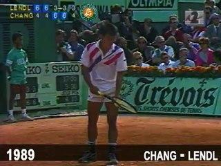 1989 Chang Lendl - Service à la cuillère