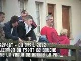 Mobilisation du Front de Gauche contre la venue de Marine Le Pen au Tréport