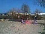 Poney 2 à Charly sur Marne. Chloé (moi) et Nini de la Noue