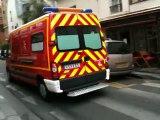 BSPP vsav rue Geoffroy Saint Hilaire, rue Poliveau  Paris 5