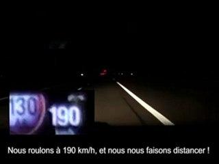L'escorte de Sarkozy filmée à près de 200 kmh!