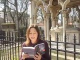 Amy Plum reading from UNTIL I DIE (at Pere Lachaise Cemetary, Paris)