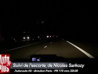 L'escorte de Sarkozy filmée à près de 200 km/h!