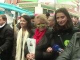 A Hénin-Beaumont, Eva Joly s'en prend à Le Pen et à son discours