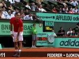 2011 Federer Djokovic - Fantastic Passing Shot