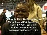 IMAGAZINE : Salon du livre 2012, portes de Versailles, Foua Ernest de Saint Sauveur, écrivain