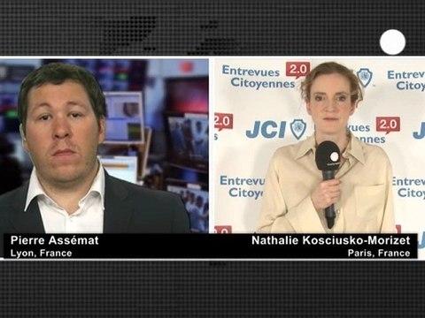 NKM sur Euronews en duplex du siège de la JCEF