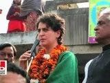 Priyanka Gandhi Vadra in Sultanpur Central schemes not implemented in UP