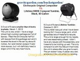 Envirocycle Original Composter Black vs Lifetime 60058 Compost Tumbler, Black, 80-Gallon (Lawn & Patio)