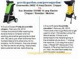 Greenworks 24052 15 Amp Electric Chipper vs. Eco-Shredder ES1600 14 amp Electric Chipper shredder mulcher
