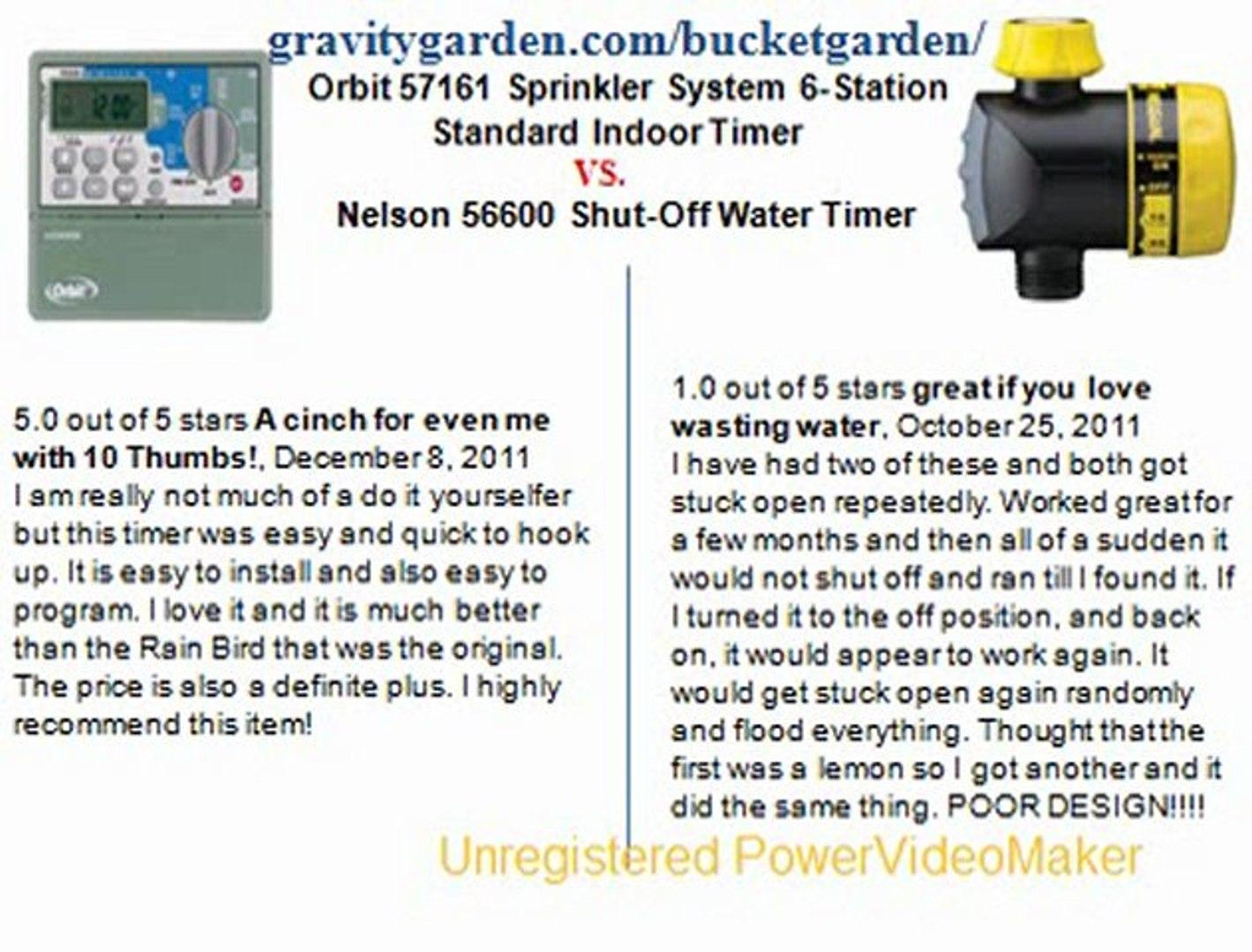 Orbit 57161 Sprinkler System 6-Station Standard Indoor Timer ...