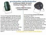 Tumbleweed 200003 58-Gallon Rotating Compost Bin, Green vs Fiskars 5705 75-Gallon Eco Bin Collapsible Composter - Copy