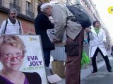 Europe-écologie les verts nettoie les banques avec Eva Joly