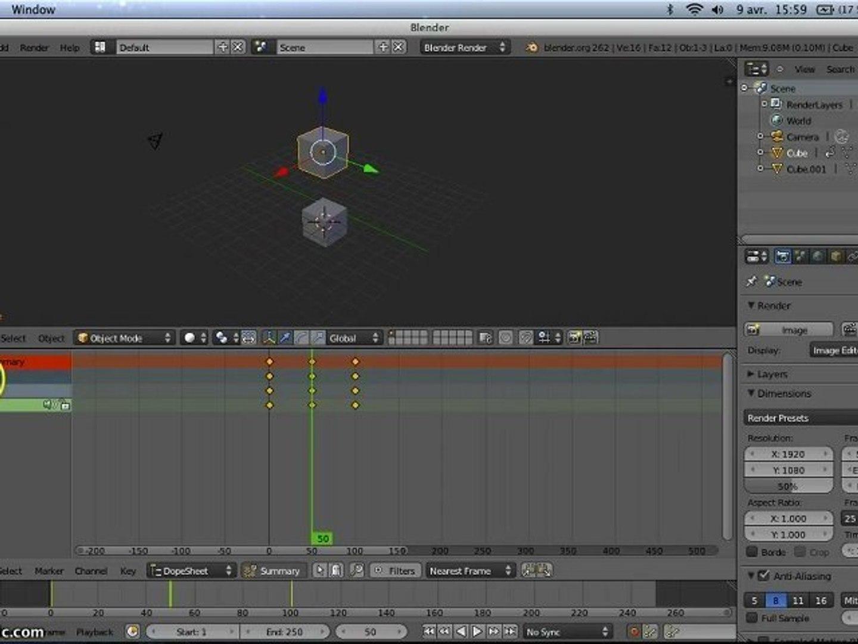 Tutorial blender 3d les bases de l'animation d'objet