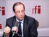 François Hollande, candidat socialiste à l'élection présidentielle
