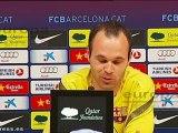 """Iniesta: """"El gol al Chelsea no tendrá nada que ver"""""""