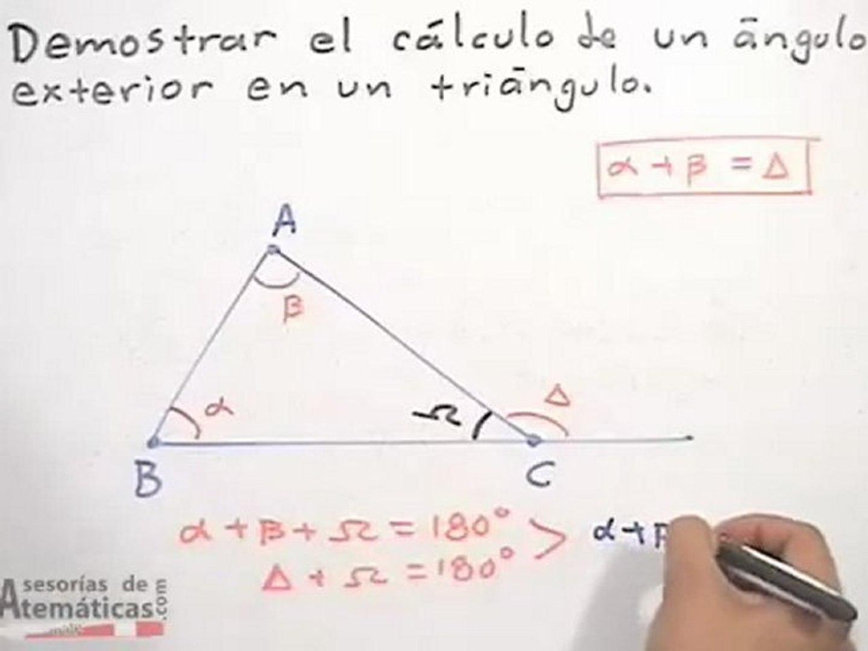 Cálculo De Un ángulo Exterior De Un Triángulo Vídeo Dailymotion