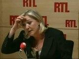 Marine Le Pen, candidate du Front National à la Présidentielle, a répondu aux auditeurs de RTL mercredi