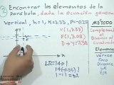 Obtener elementos de la parábola dada su ecuación general - TCP (PARTE 2)