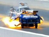 Dramatic footage as Matt Hagan's drag car explodes