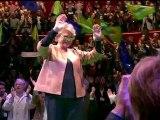 Meeting d'Eva Joly au Cirque d'Hiver de Paris - début du meeting
