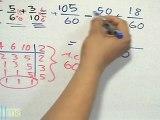Suma y resta de fracciones con diferente denominador (convertir fracciones) -HD