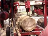 JANVRY,scierie mobile,valorisation du bois communal après la tempête de 99