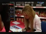 Miley Cyrus Brings Fans To Tears During In-Store Appearance In England 09/11/10