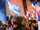 Marine Le Pen: Hymne national entonné lors de la soirée éléctorale le dimanche 22 avril 2012