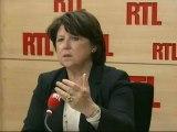 """Martine Aubry, première secrétaire du Parti socialiste, lundi sur RTL : """"Le score de Marine Le Pen ne m'a pas surprise"""""""