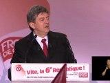 1er tour de l'élection présidentielle, déclaration de Jean-Luc Mélenchon