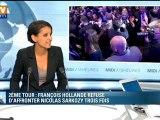 Najat Vallaud-Belkacem sur le refus de Hollande d'affrontre Sarkozy