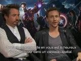 Interview exclu de Robert Downey et Tom Hiddleston - Avengers