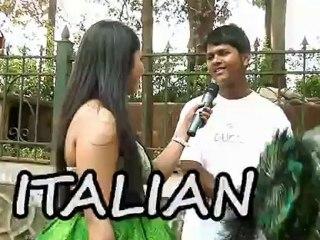 Street kid speaks foreign languages