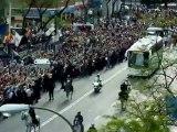 Real Madrid-Bayern Munich llegada al Bernabéu  Real Madrid arrive at the Bernabeu