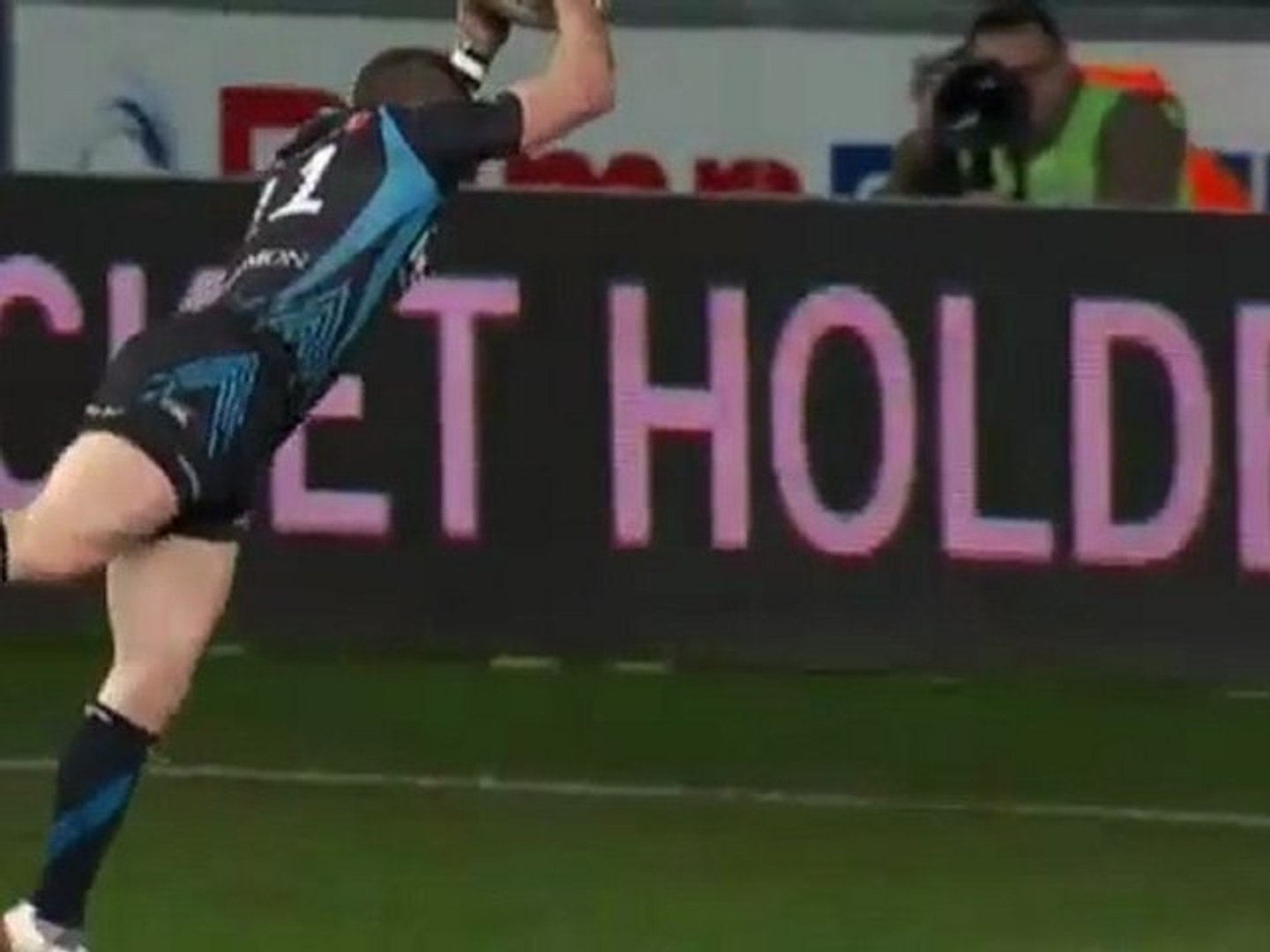 Shane Williams last try possibly for the Ospreys 2012